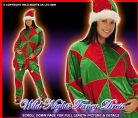 FANCY DRESS COSTUME ADULT DLX HARLEQUIN JESTER MED/LG